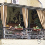 внеший вид балкона со стилем прованс
