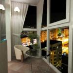 ночной вид из балкона