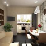 балкон переделанный в кухню