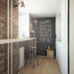 кирпичная стена сочетание лофт балкон