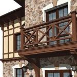 перила на балкон из дерева