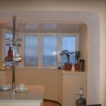 как соединить кухню и балкон фото