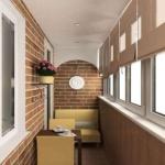 отделка балкона кирпичом внутри