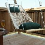подвесное кресло на свежем воздухе