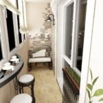 балкон с маленьким диваном