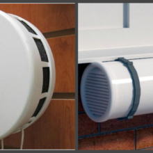 Проточно-вытяжной клапан на балконе