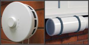 Приточно-вытяжной клапан на балконе