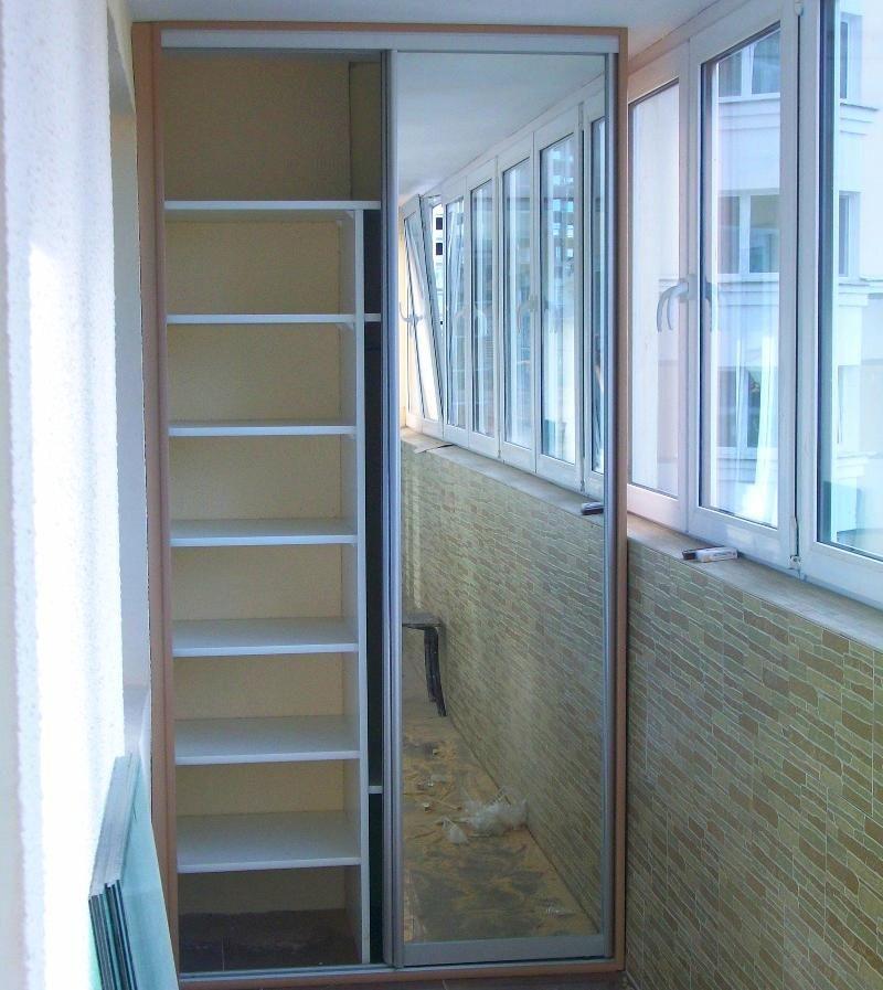 встроенный шкаф на балконе своими руками фото видео цена