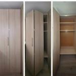 шкаф с дверями гармошкой