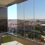 витражные окна на балконе