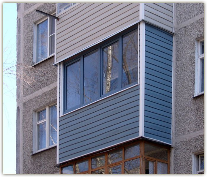 внешняя отделка балкона сайдингом