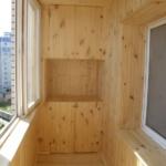 отделка балкон вагонкой