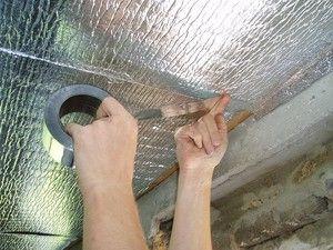 утепление потолка балкона изолоном