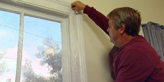 как заклеить окно